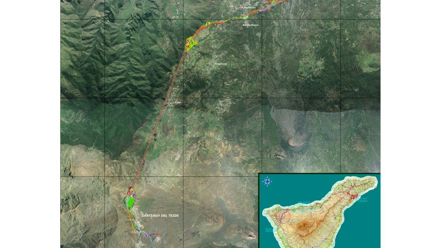Obras del cierre del anillo insular de Tenerife