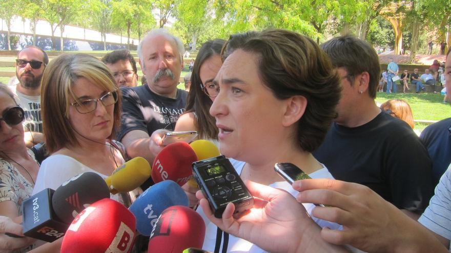 """Colau aboga por un referéndum pactado para no """"redoblar la frustración"""" en Cataluña"""