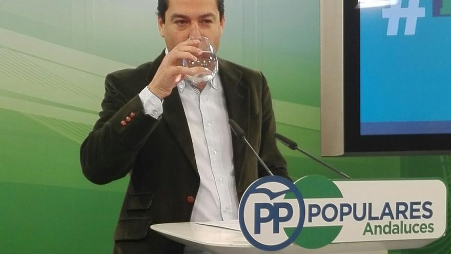 Moreno (PP-A) espera que se aclare la situación de García Pelayo y no la ve comparable a la de Chaves y Griñán
