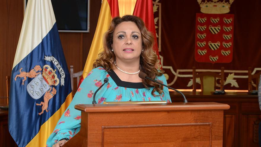 Cristina Valido en una visita a Lanzarote