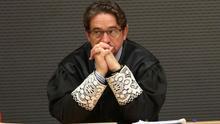 El juez Salvador Alba, en el juicio del caso Calero. (ALEJANDRO RAMOS)