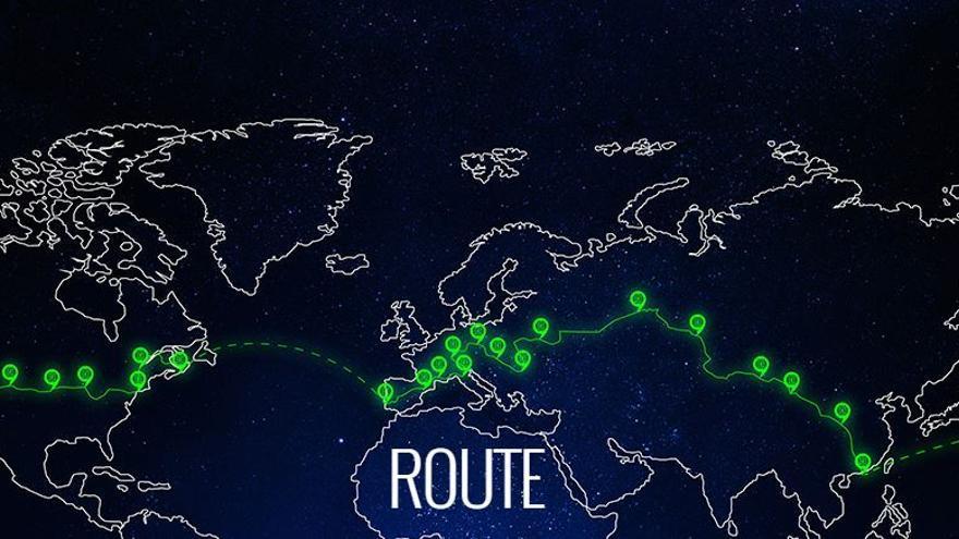 El exigente recorrido que llevó a los participantes del 80edays a recorrer el mundo por el hemisferio norte