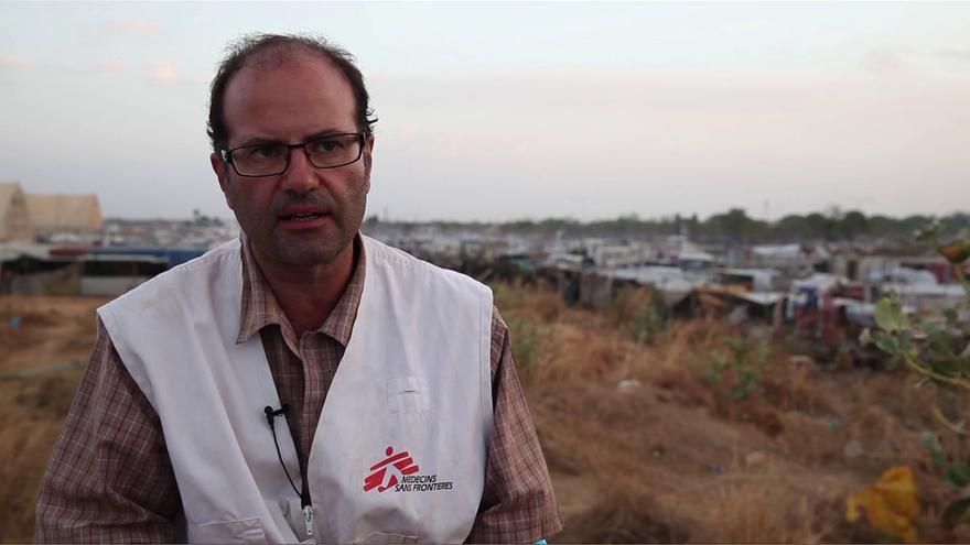 Carlos Francisco, coordinador de las Operaciones de Médicos Sin Fronteras para Siria / foto: MSF