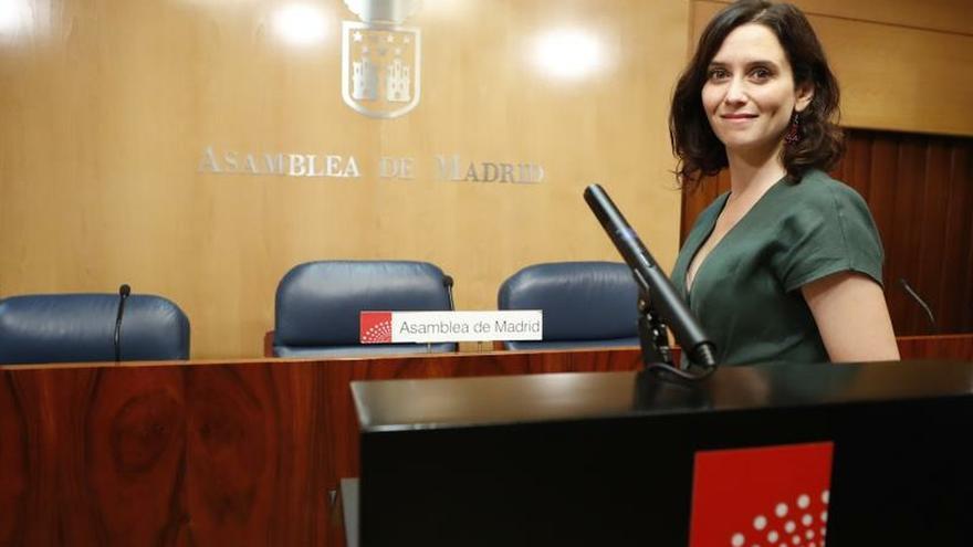 Díaz Ayuso pide someterse a la investidura cuando cierre su acuerdo con Cs