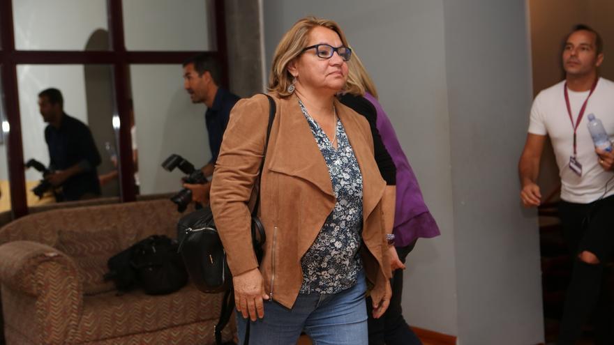 La secretaria general de Podemos en Canarias, Meri Pita (ALEJANDRO RAMOS)