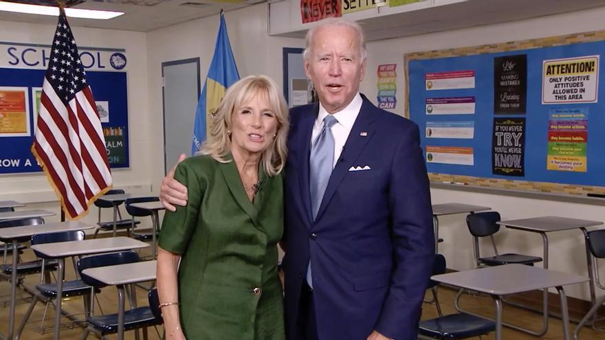 """La esposa de Biden apela a su """"amor"""" y """"compasión"""" para unir a Estados Unidos"""