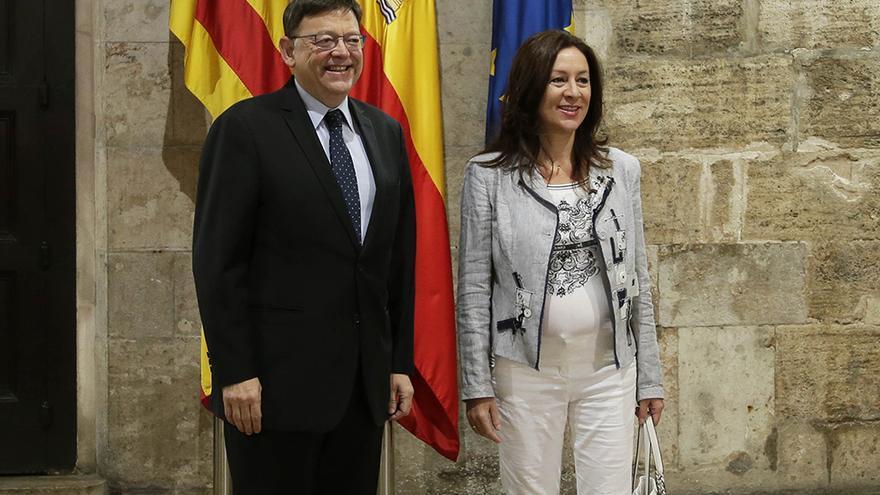 El jefe del Consell, Ximo Puig, junto a la líder de UPyD en la Comunitat Valenciana, Alicia Andújar