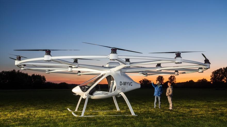 El taxi volador Volocopter de Intel.