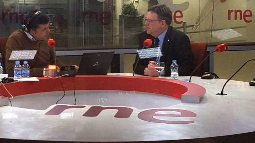 El president Ximo Puig en 'Las mañana de RNE'