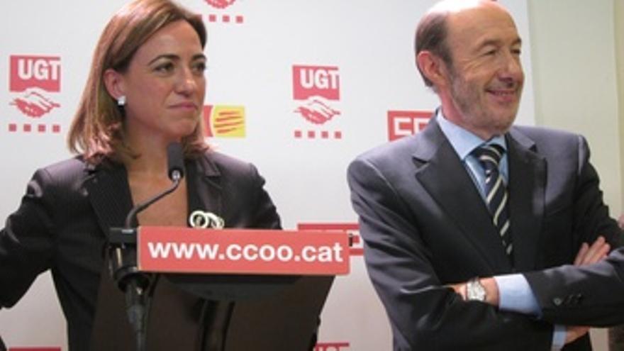 Carme Chacón Y Alfredo Pérez Rubalcaba (PSOE)