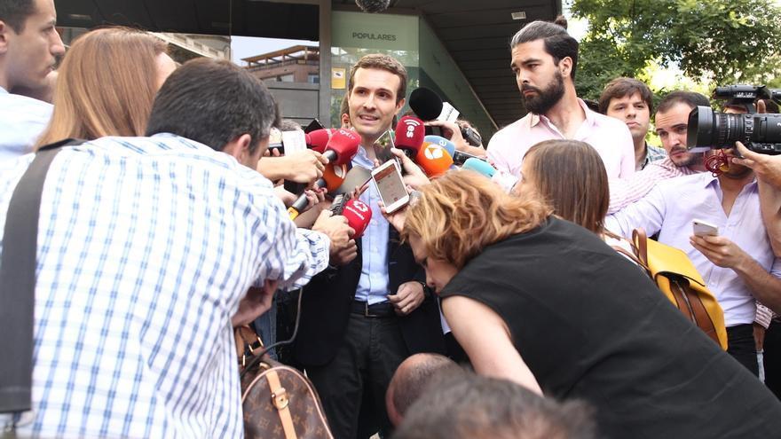 """Pablo Casado: """"No podemos seguir arrastrando los pies toda una semana para pensar quién quiere liderar el partido"""""""