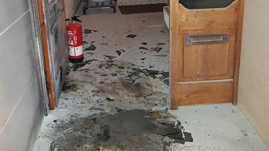 Imagen del portal de Balsareny después del incidente del viernes