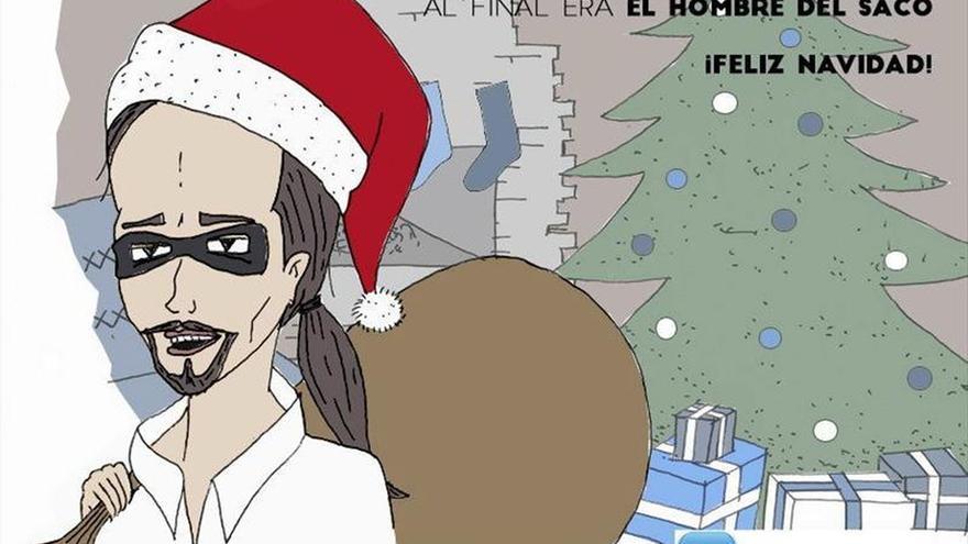 NNGG y Podemos se enzarzan en Twitter por una tarjeta navideña sobre Iglesias