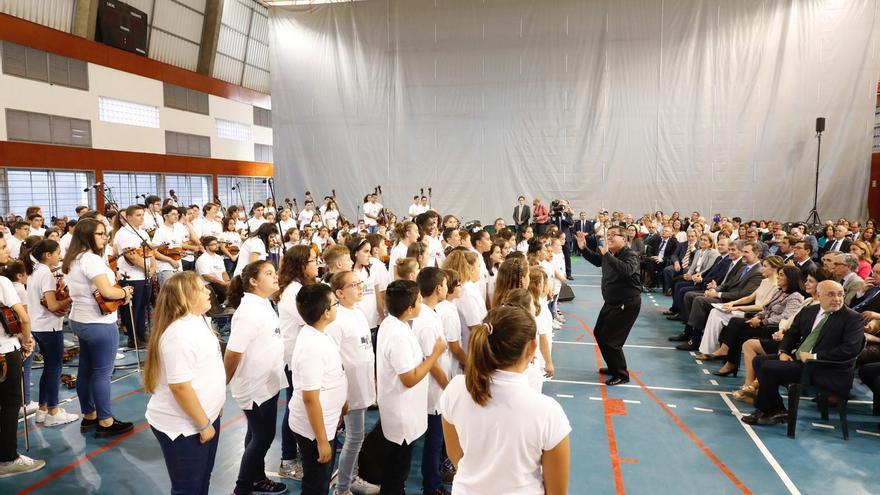 Conciertos de Barrios Orquestados a los reyes de España