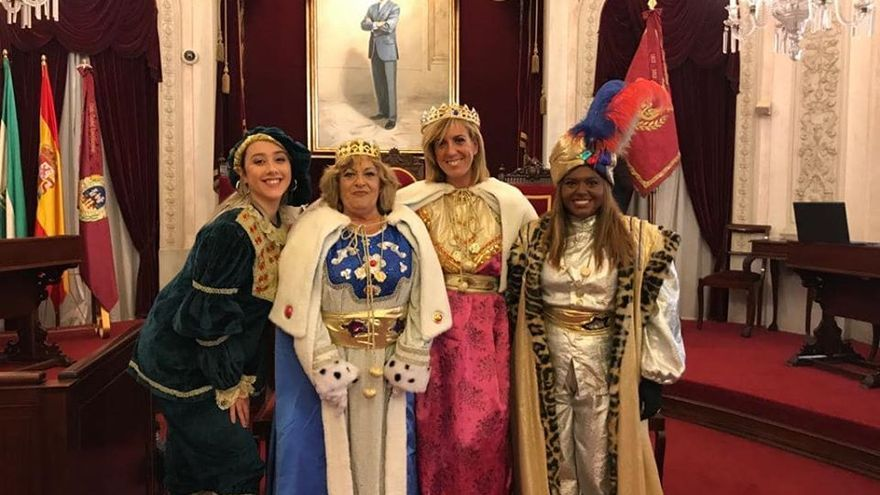 Las Reinas Magas de la polémica de Cádiz.