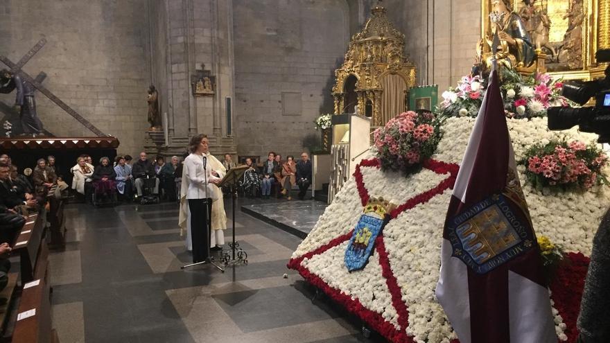 Gamarra aboga por erradicar la violencia contra las mujeres en el Día de la Virgen de la Esperanza, patrona de Logroño