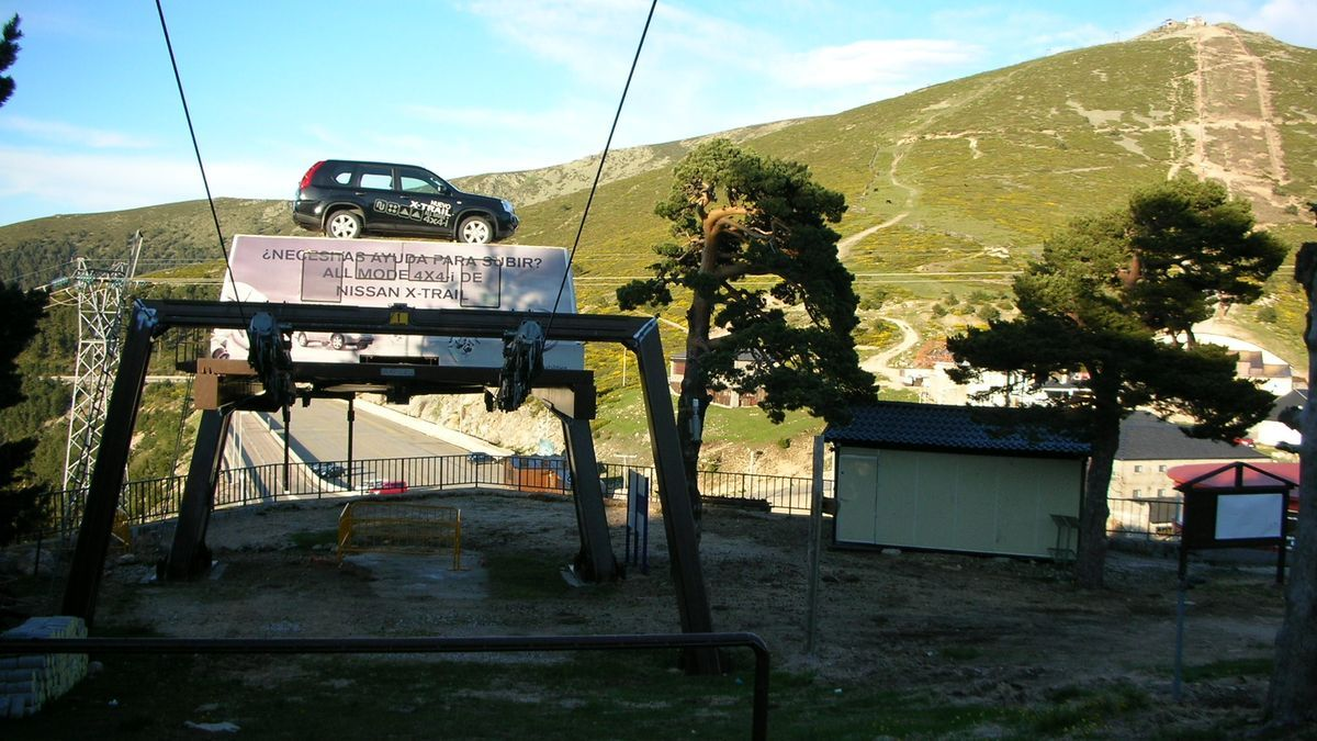 Las pistas de esquí de Navacerrada.