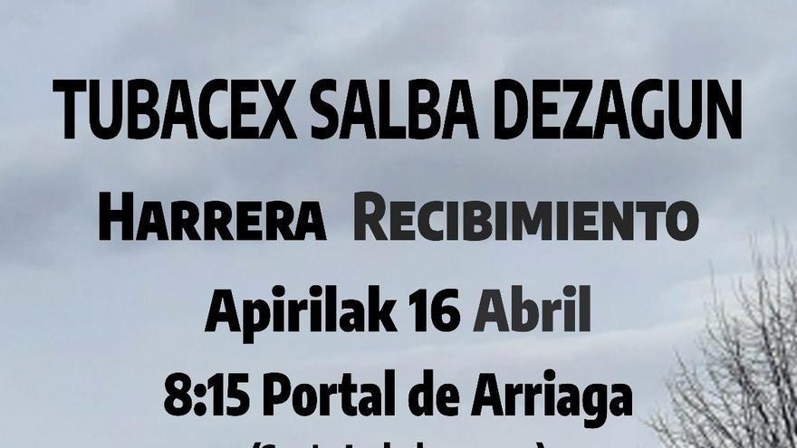 Trabajadores de Tubacex inician una marcha hacia Vitoria para reclamar ante la Cámara vasca la defensa de sus empleos