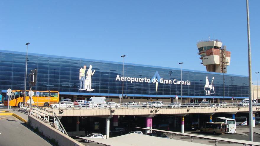 Aeropuerto de Gando, en Gran Canaria.