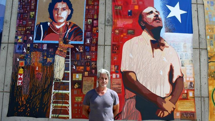 El hijo de Letelier recuerda su muerte 40 años después con un expresivo mural