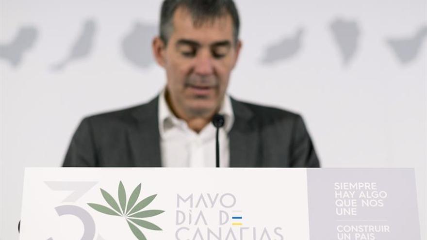 Fernando Clavijo, en la presentación este jueves de los actos del Día de Canarias