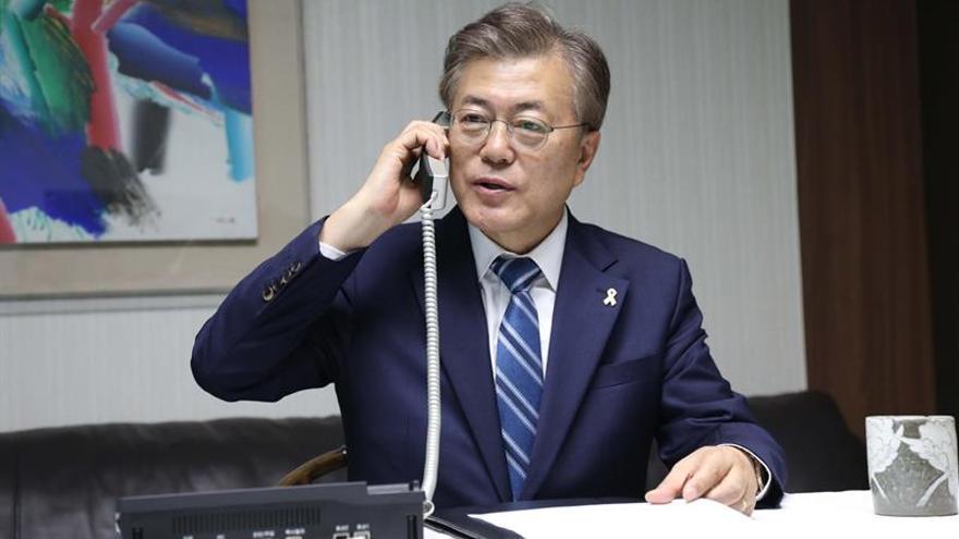 El presidente de Corea del Sur Moon Jae-in .