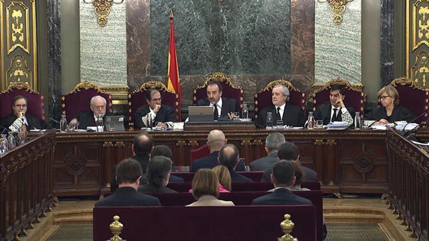Tribunal del procés durante el juicio