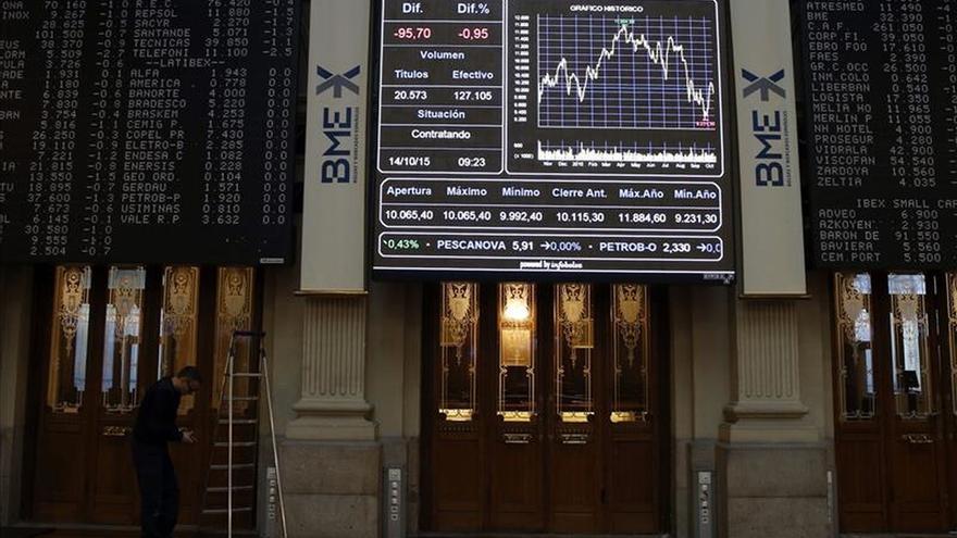 El IBEX pierde un 0,62 % y los 10.300 puntos por la caída manufacturera en China