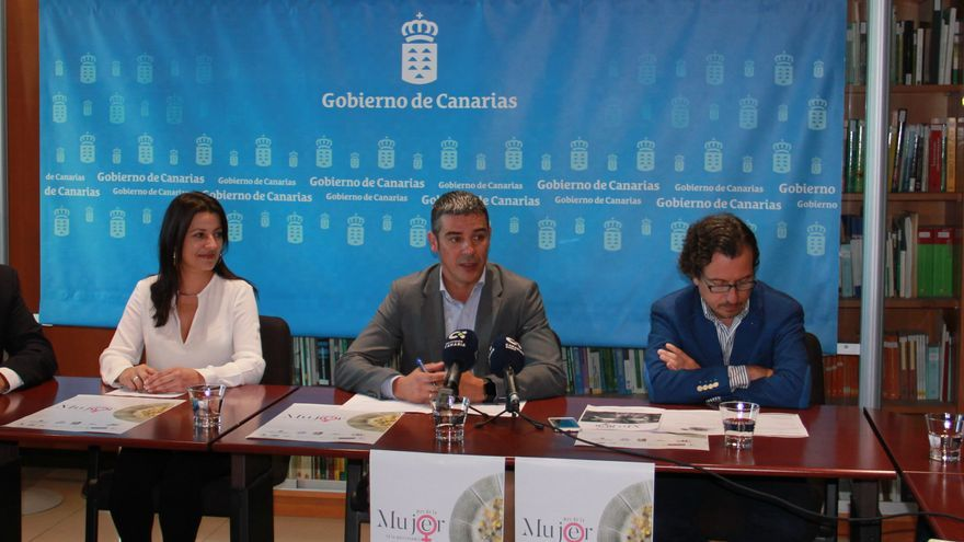Presentación de las jornadas en la Consejería de Agricultura, con Narvay Quintero