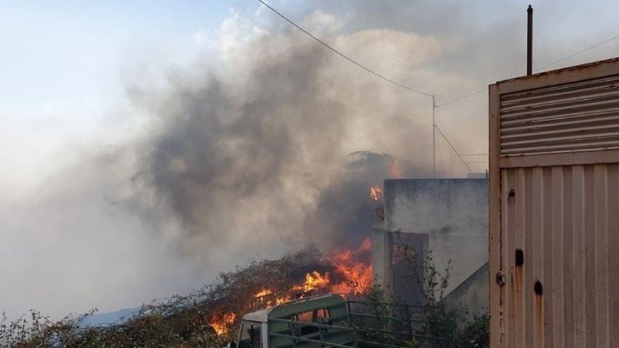 Conato de incendio en La Orotava