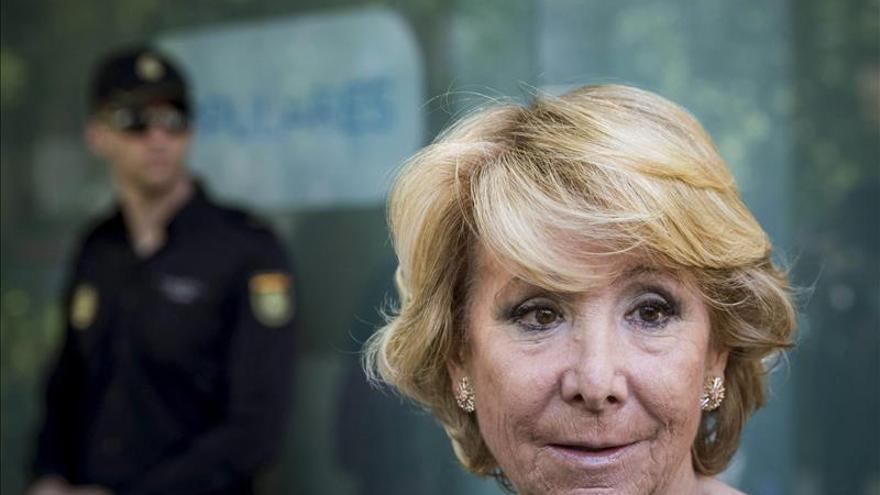 La presidenta del PP de Madrid y candidata a la Alcaldía de la ciudad, Esperanza Aguirre. / Efe