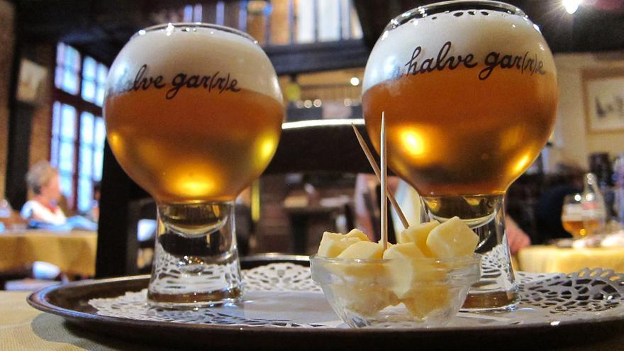 Cerveza artesanal de Staminee De Garre, una de las mejores de la ciudad. Staminee De Garre