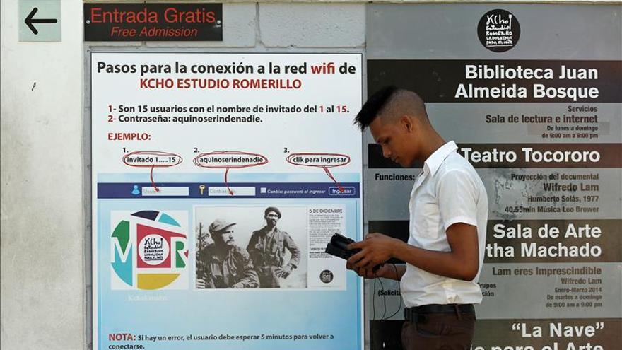 Los cubanos cuentan desde hoy con 35 zonas de internet wi-fi