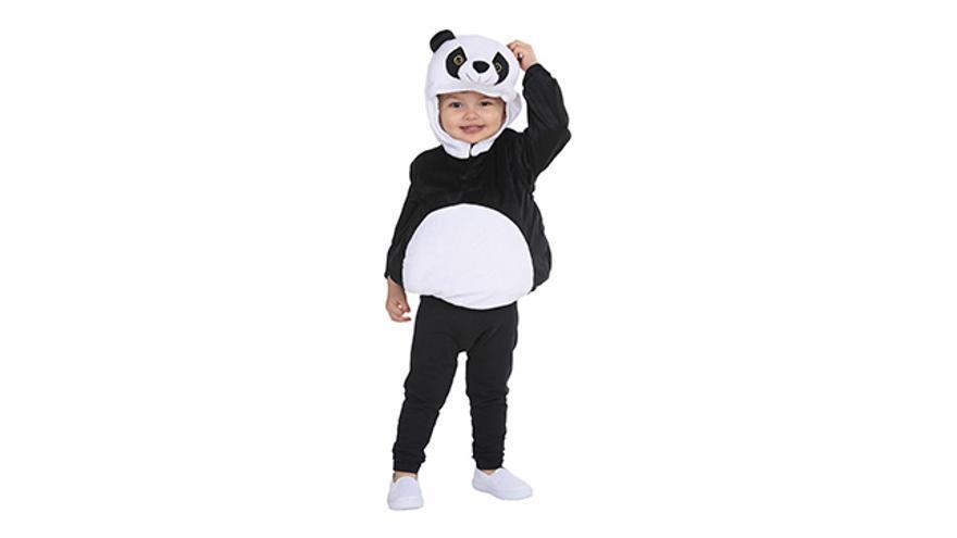 Disfraz de oso panda.