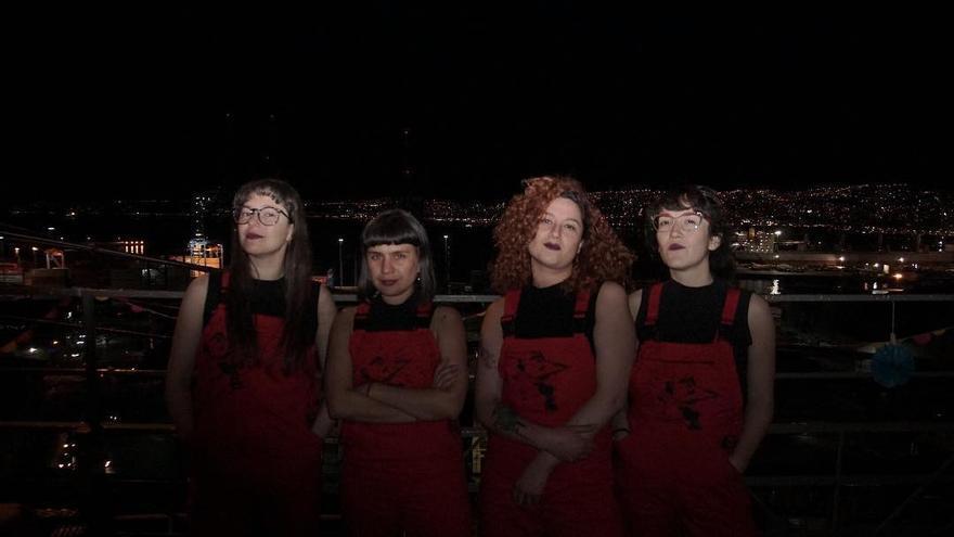 Paula Cometa (primera por la derecha) es una de las integrantes de LasTesis