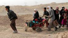Un ataque aéreo de EEUU en la batalla de Mosul mata a 130 civiles