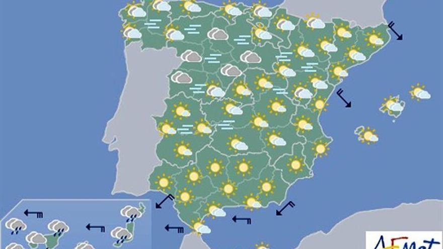 Mañana, pocas nubes, nieblas generalizadas y heladas en zonas altas