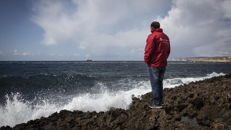 Aman, trabajador de Save the Children en Lampedusa