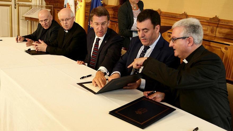 La Xunta aprobará el plan director del Camino de Santiago en la firma del acuerdo para rehabilitar la Catedral