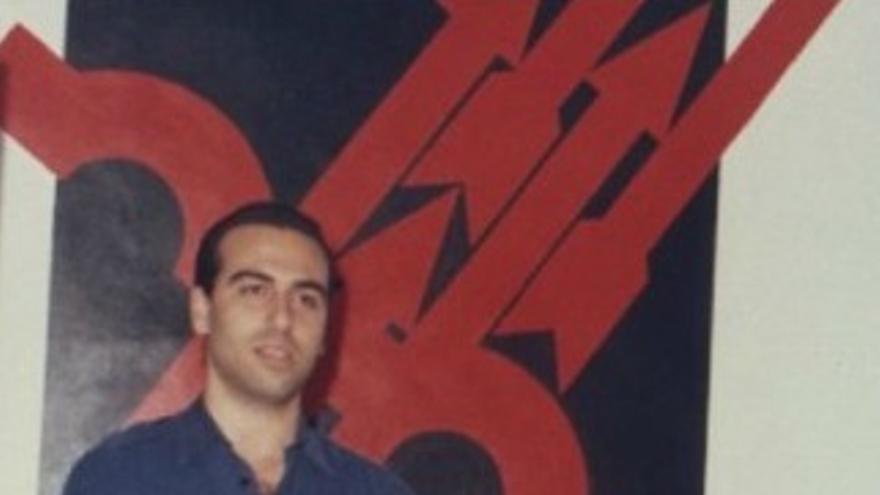 Juan García Sentandreu, cuando era miembro de Falage Española y de las JONS.