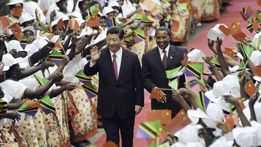 El presidente de China, en su reciente visita a Tanzania. Foto: Efe.
