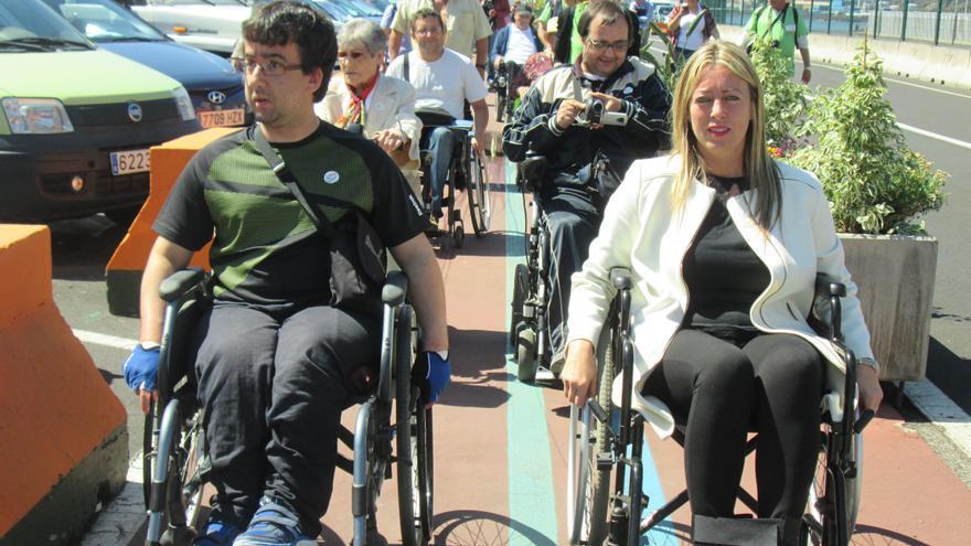 La senadora María de Haro participó también en el recorrido. Foto: LUZ RODRÍGUEZ.