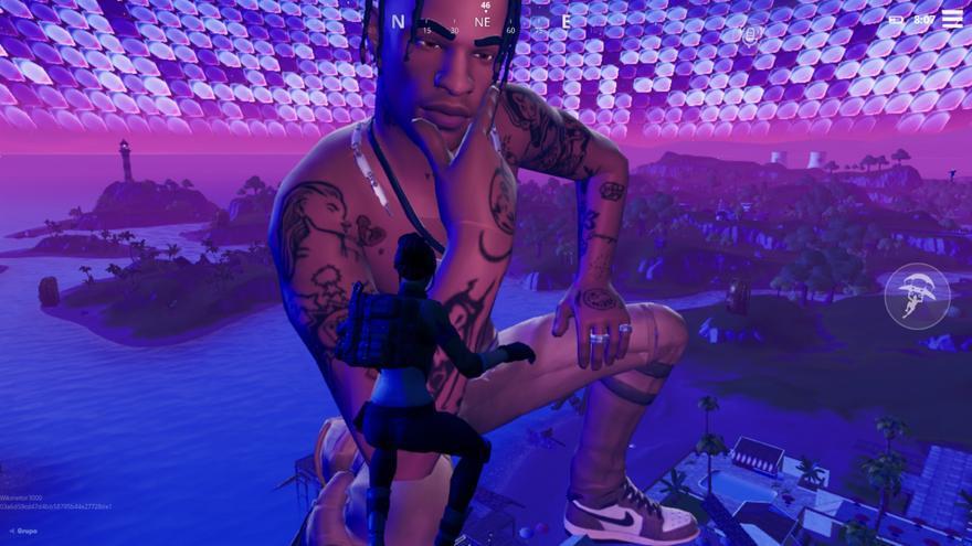 Fotograma de 'Astronomical' con el avatar de Travis Scott