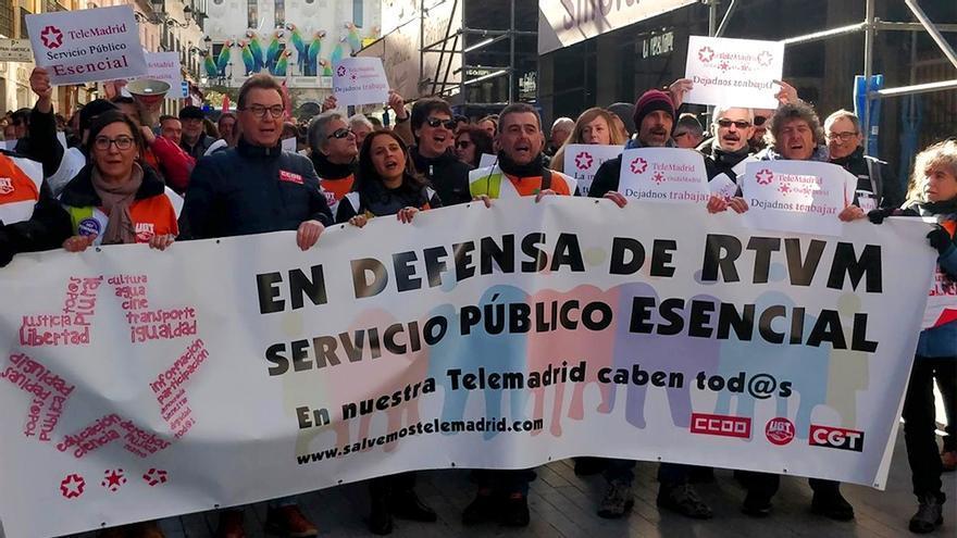 La manifestación de los trabajadores este sábado 11 de enero