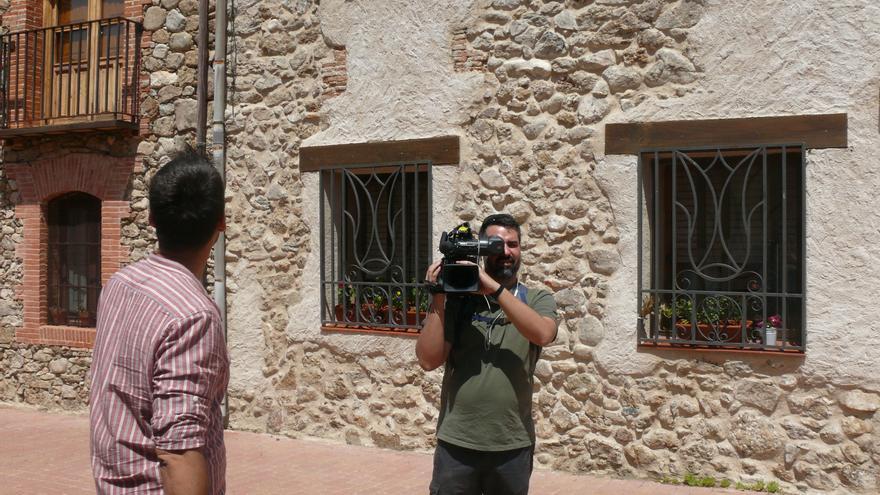 Periodistas en Sotosalbos (Segovia).