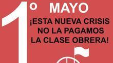 Cartel manifestación del 1 de mayo 2020
