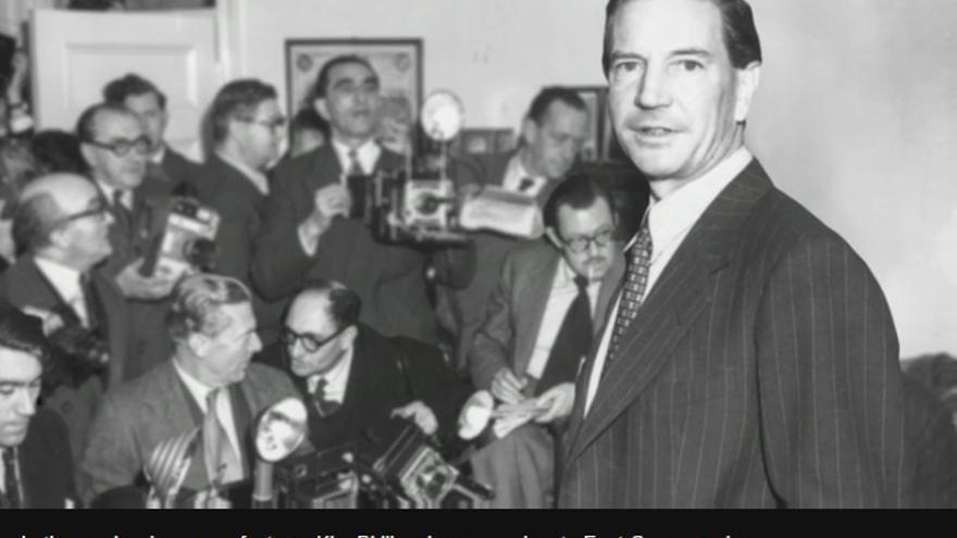 Captura de pantalla del vídeo publicado por la BBC sobre el espía británico Kim Philby