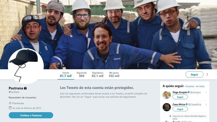La cuenta de Twitter de Pastrana.