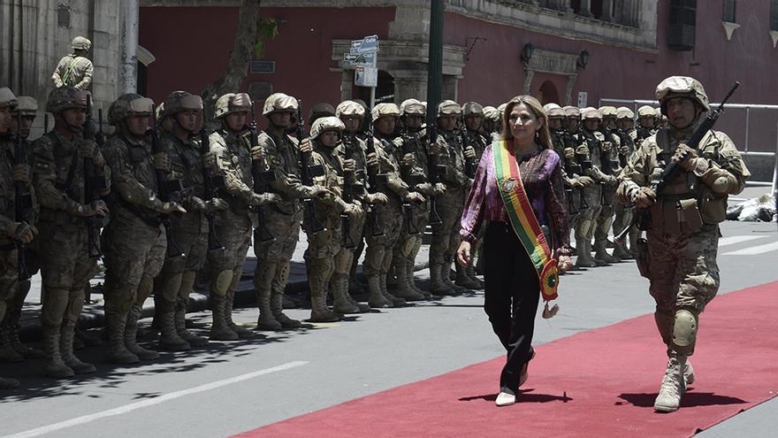 La expresidenta de facto boliviana Jeanine Añez