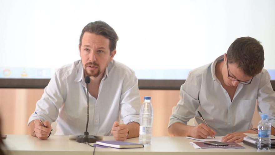 Pablo Iglesias e íñigo Errejón en el Consejo Ciudadano Estatal